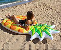 Матрас надувной Intex Ананас (Pineapple) арт. 58761. Отлично подходит для отдыха на море, в бассейне, фото 2