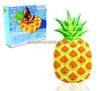 Матрас надувной Intex Ананас (Pineapple) арт. 58761. Отлично подходит для отдыха на море, в бассейне, фото 7