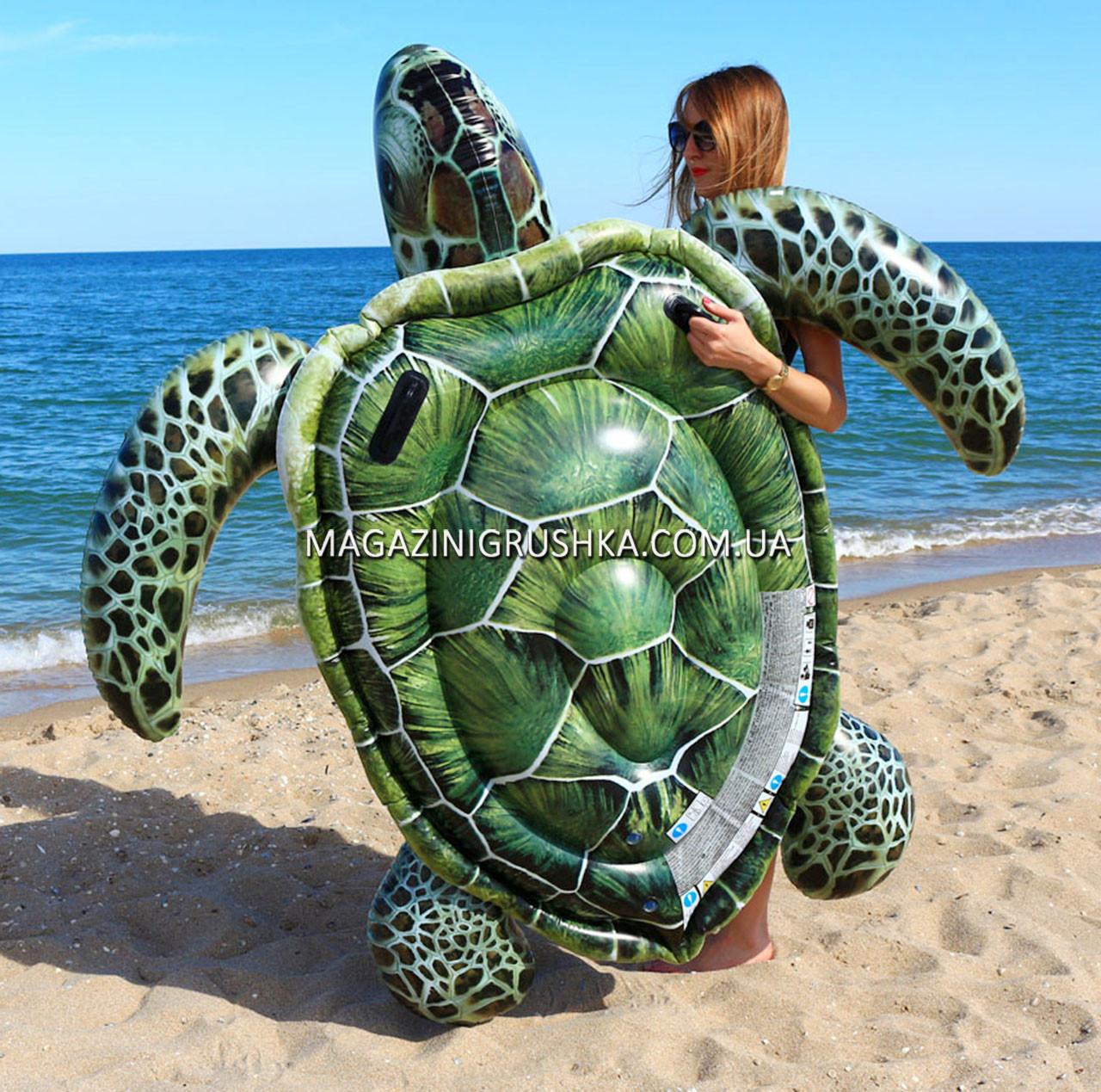 Матрас надувной Intex Черепаха (Popsicle) арт.57555. Отлично подходит для отдыха на море, в бассейне