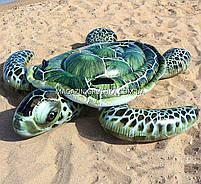 Матрас надувной Intex Черепаха (Popsicle) арт.57555. Отлично подходит для отдыха на море, в бассейне, фото 5