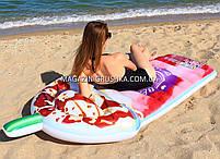 Матрас надувной Intex Ягодный Коктейль (Berry Pink Splash) арт.58777. Отлично подходит для на моря, в бассейна, фото 3