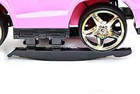 Дитяча машинка каталка-толокар Mercedes SX1578-8 рожевий, шкір сидіння, EVA колеса, MP3, фото 3