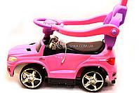Дитяча машинка каталка-толокар Mercedes SX1578-8 рожевий, шкір сидіння, EVA колеса, MP3, фото 4