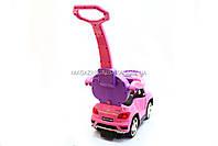 Дитяча машинка каталка-толокар Mercedes SX1578-8 рожевий, шкір сидіння, EVA колеса, MP3, фото 6