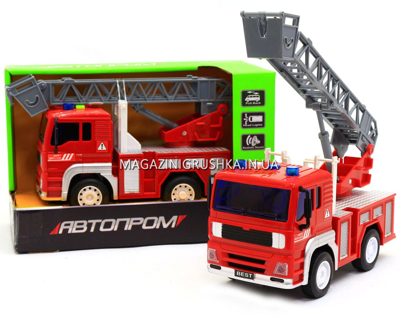 Машинка игровая автопром «Пожарная машина» (свет, звук) 7815