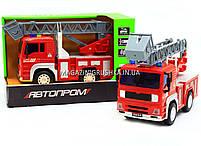Машинка игровая автопром «Пожарная машина» (свет, звук) 7815, фото 3