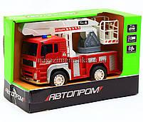 Машинка игровая автопром «Пожарная машина» (свет, звук) 7815, фото 5