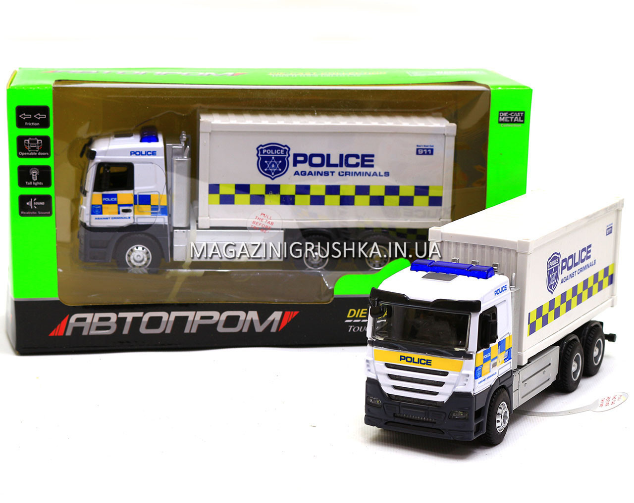 Машинка игровая автопром «Полицейская машинка» (свет, звук) 7791