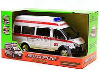 Машинка игровая автопром «Скорая помощь» (свет, звук) 7808, фото 2
