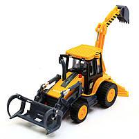 Машинка игровая автопром «Трактор с ковшом» 7764, фото 3