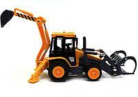 Машинка игровая автопром «Трактор с ковшом» 7764, фото 4