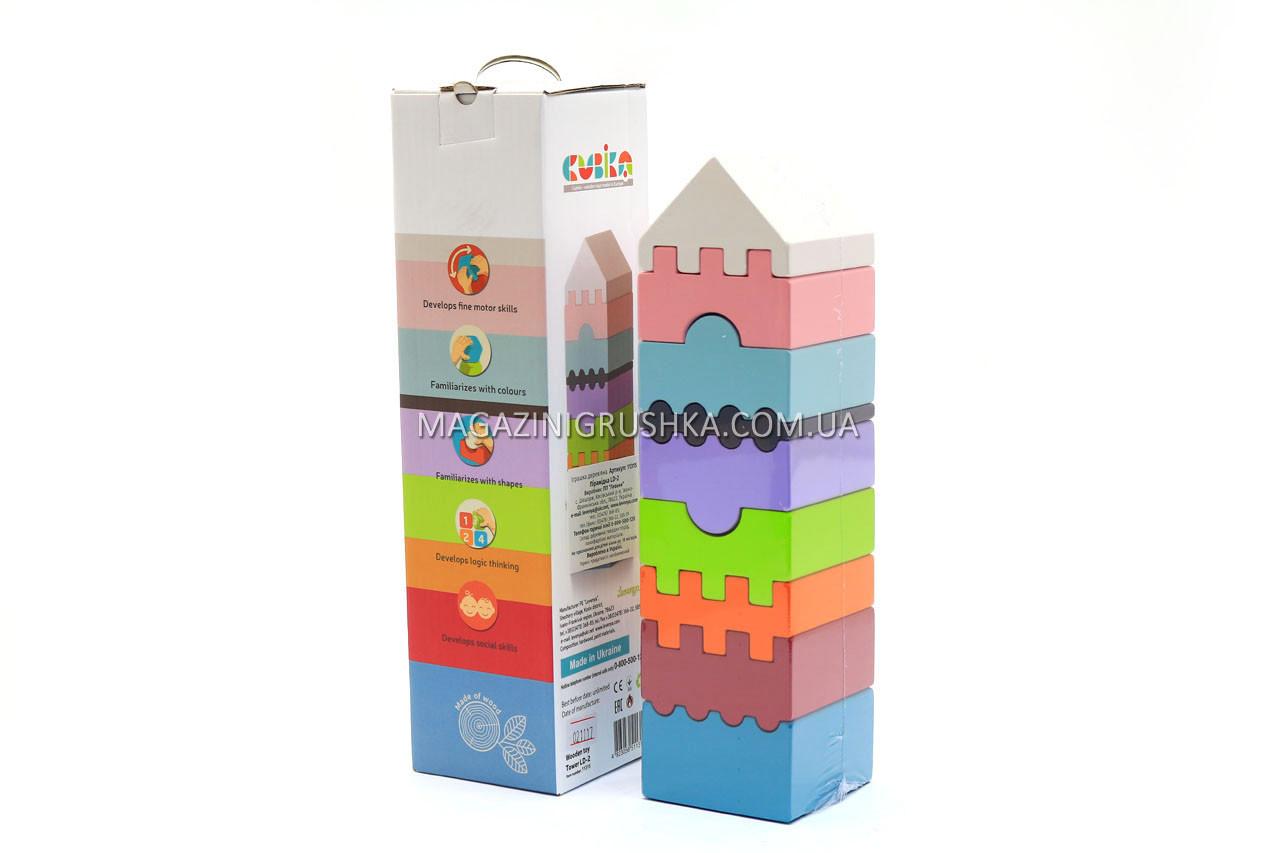 Дитячий дерев'яний конструктор Піраміда Cubika(Кубики) 11315. Дерев'яні еко іграшки