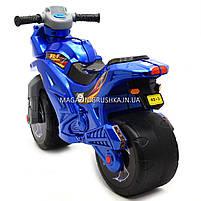 Детский Мотоцикл толокар Орион музыкальный (синий). Популярный транспорт для детей от 2х лет, фото 2