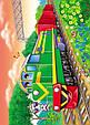 Паровозы и поезда. 6 пазлов. А4, фото 3