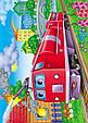 Паровозы и поезда. 6 пазлов. А4, фото 5