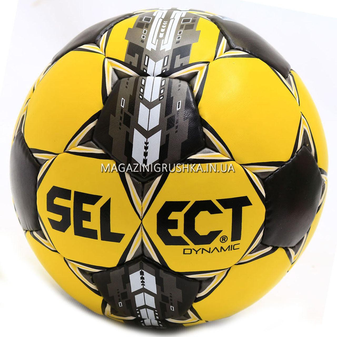 Мяч футбольный SELECT Dynamic желто-черный