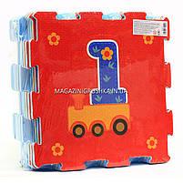 Игровой коврик-мозаика «Вагончик с рисунками» M 2614, фото 2