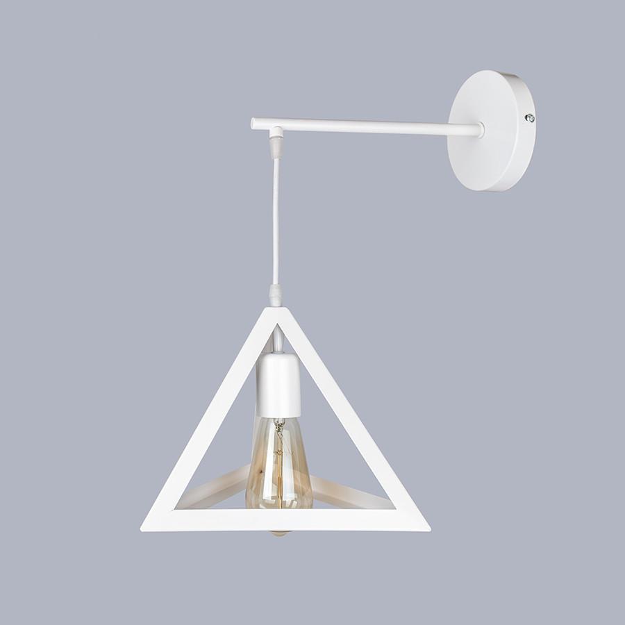 Белый светильник пирамида