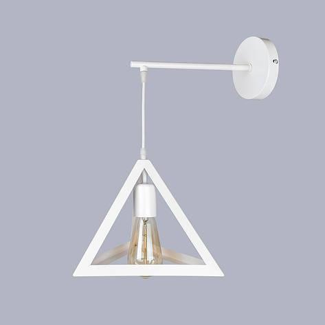 Белый светильник пирамида, фото 2