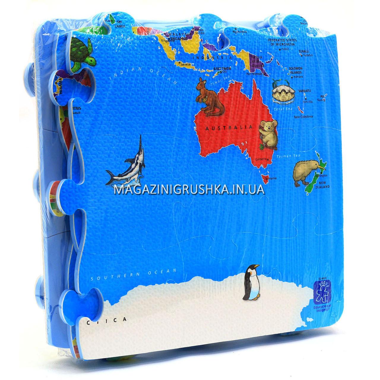 Игровой коврик-мозаика «Карта мира» M 2612