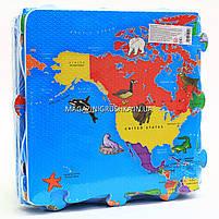 Игровой коврик-мозаика «Карта мира» M 2612, фото 3