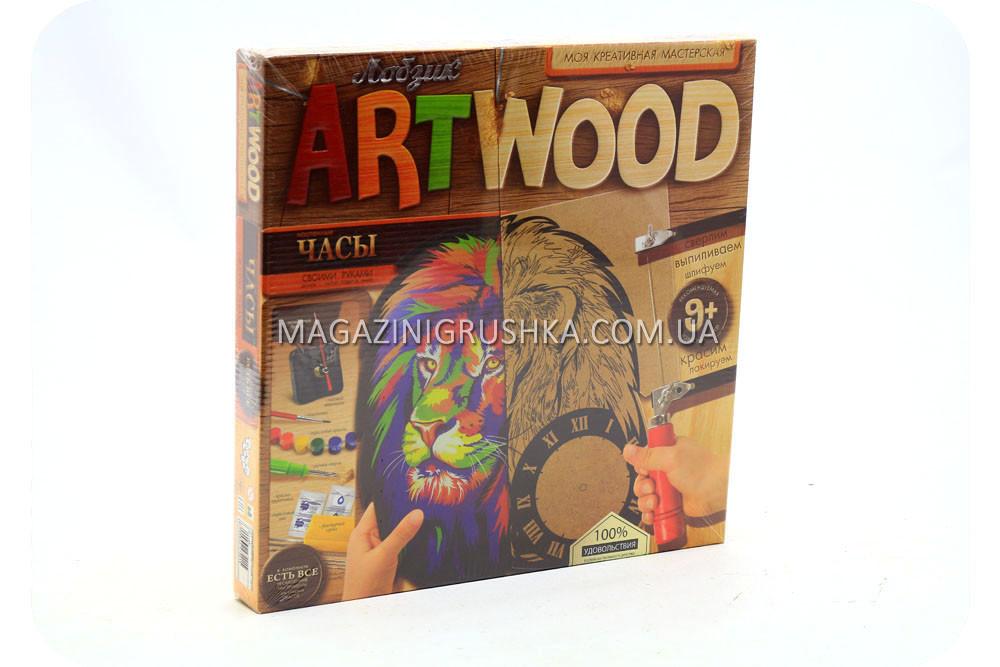 Набор для креативного творчества Danko toys ArtWood. Настенные часы LBZ-01-01
