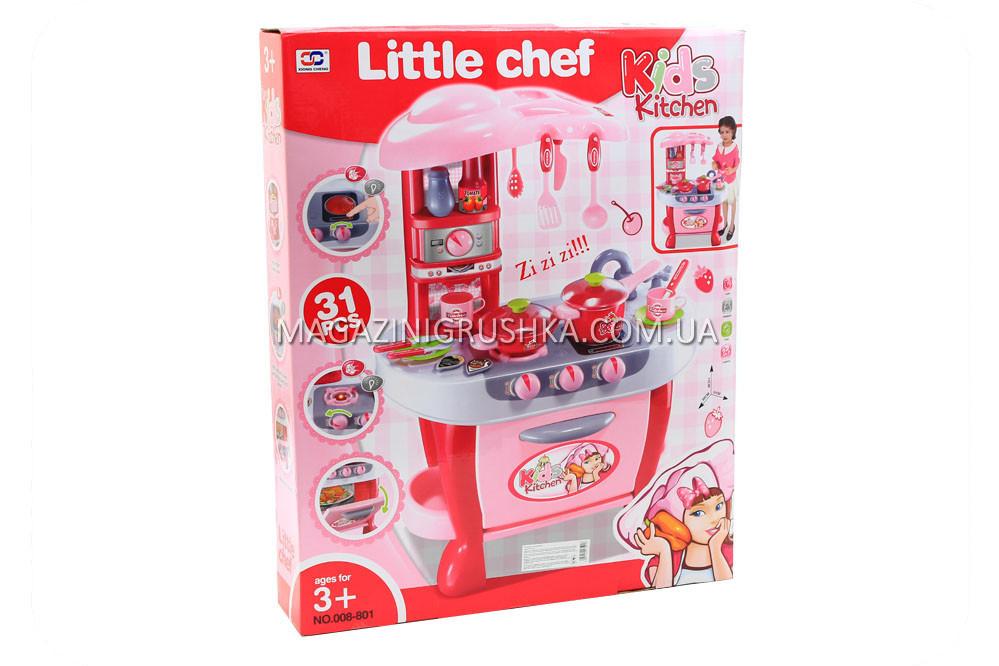Ігровий набір «Дитяча кухня з посудом» (звук, світло) 008-801