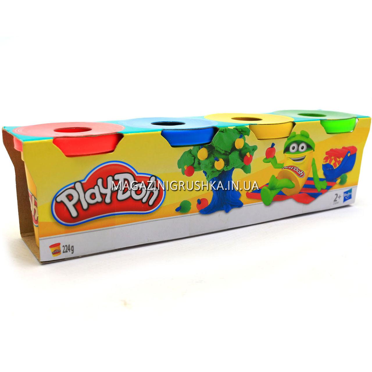 Набор для лепки Play-Doh - Масса для лепки (4 баночки - 224 гр) 23241