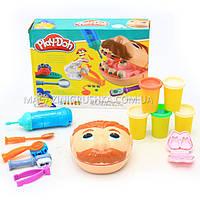 Набор для лепки Play-Doh «Мистер Зубастик» (качественный аналог) МК1525 (Набор стоматолога)