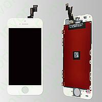 Модуль Дисплей iPhone 5S с тачскрином и рамкой, белый (AAA)