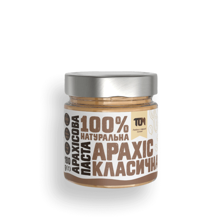 Арахісова паста ТОМ класична 180 г