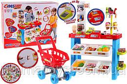Игровой Магазин 668-22 Супермаркет с тележкой. касса, звук