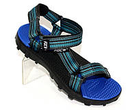 Спортивные мальковые сандалеты синие
