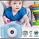 Детский цифровой фотоаппарат Kids Camera GM14 с записью видео Синий, фото 6