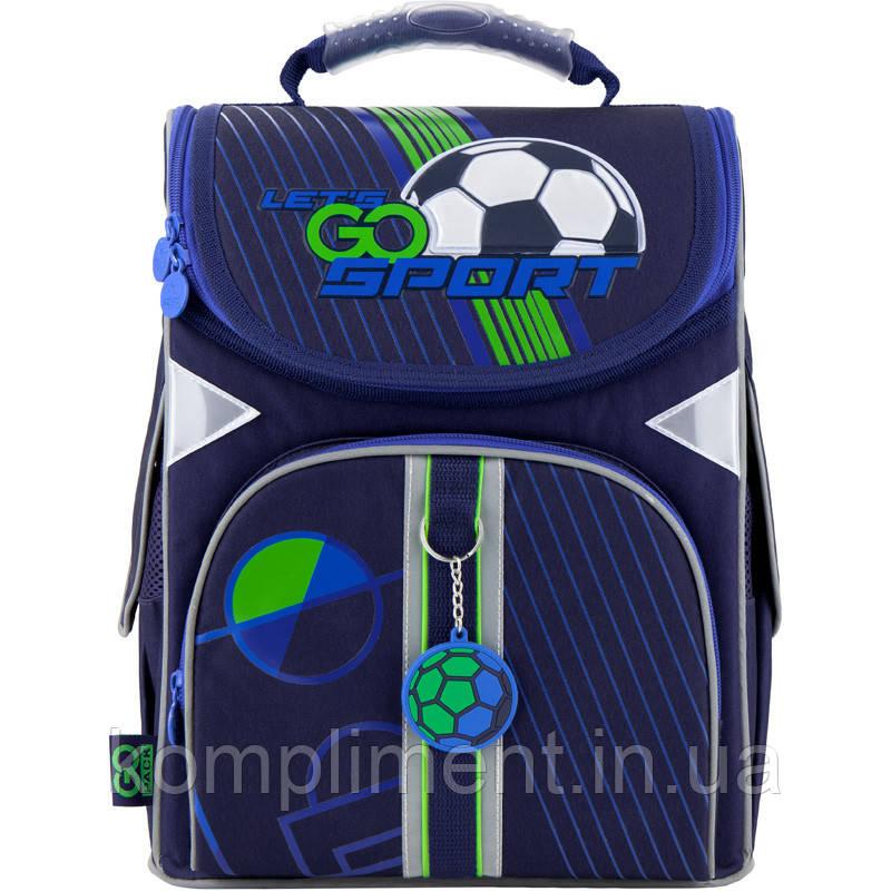 Рюкзак школьный каркасный ортопедический GoPack Education FOOTBALL GO20-5001S-10