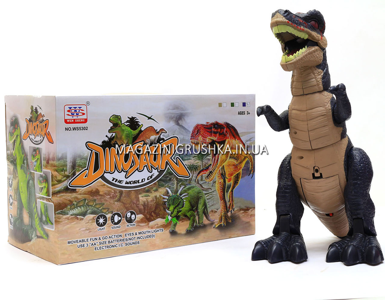 Игрушечный Динозавр (ходит, издает реалистические звуки) WS5302