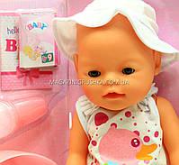 Интерактивная кукла Baby Born (беби бон). Пупс аналог с одеждой и аксессуарами 9 функций беби борн 8006-462, фото 2
