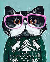 Картина по номерам Кот в очках AS 0267, фото 5
