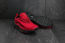 Чоловічі кросівки текстильні весна/осінь червоні Ditof A 345 -8, фото 2