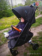 Детская прогулочная коляска книжка EL CAMINO M 3910-1 YOGA II. Черный, фото 3
