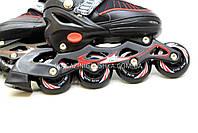 Роликовые коньки, размер 31-34 S Красный (5700), фото 5