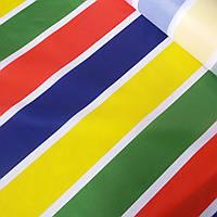 Тентовая ткань оксфорд полоска разноцветная, 200D, ш. 150 см