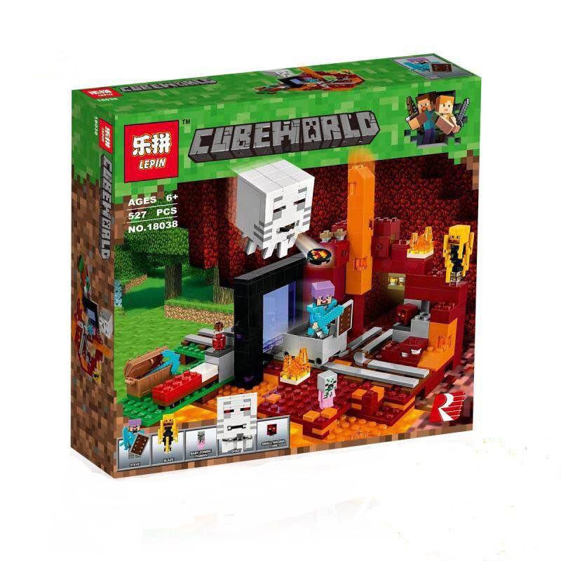 Конструктор Minecraft Майнкрафт - Портал в нижний мир Lepin 18038