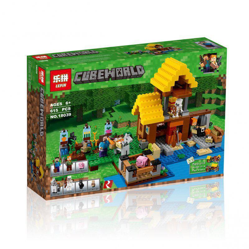 Конструктор Minecraft Майнкрафт - Фермерский домик Lepin 18039