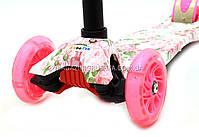 Трехколесный самокат 0367 со светящимися колесами для детей и подростков весна-лето, фото 3