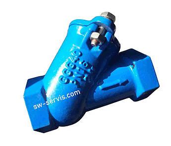 Клапан зворотний кульовий каналізаційний ду50