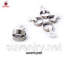 Кольца с молитвой Отче наш на русском языке цвет серебро