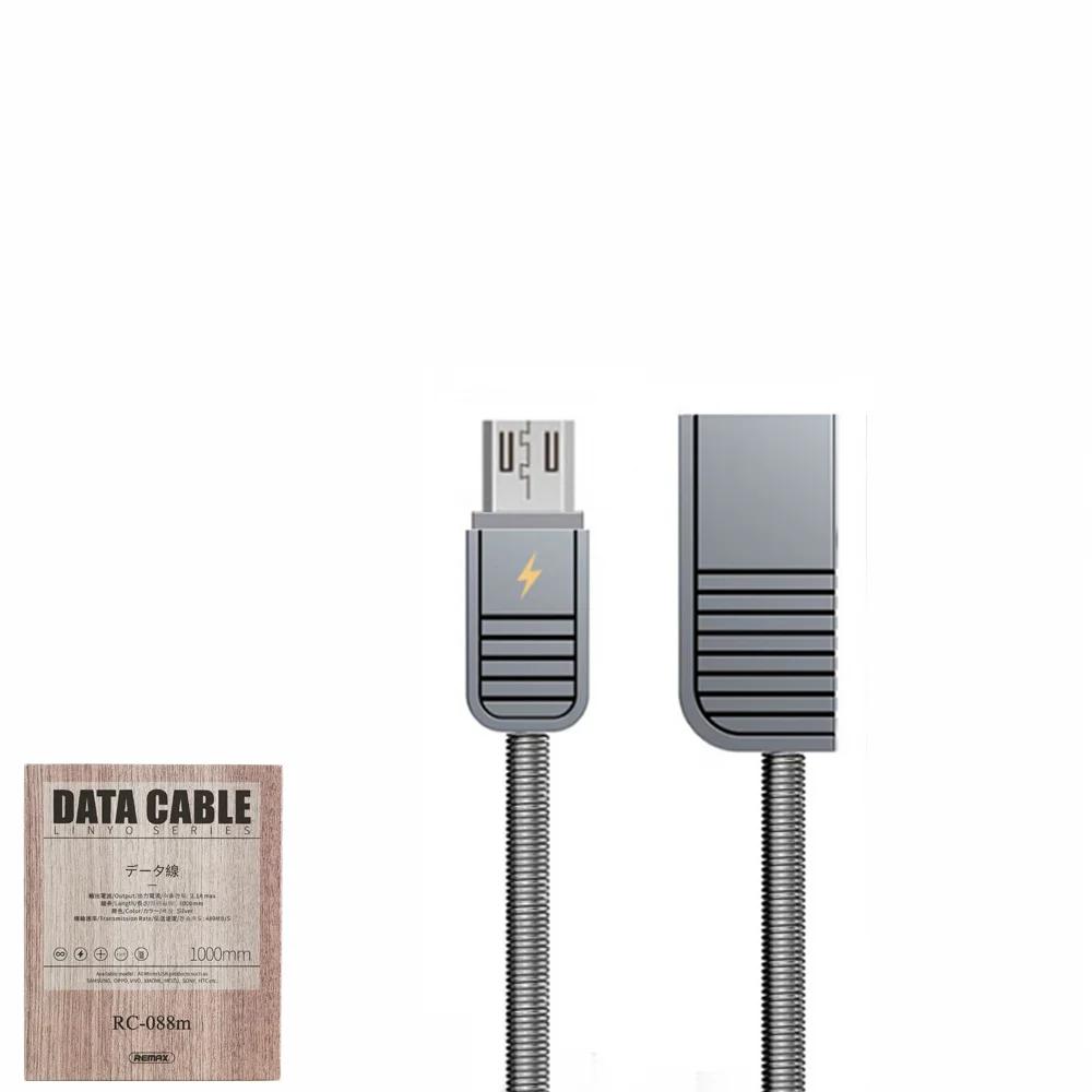 USB Data кабель Remax Linyo RC-088m MicroUSB 1m Silver