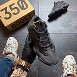 Мужские кроссовки Adidas Yeezy 500 Utility Black, Мужские кроссовки Адидас Изи Буст 500 черные рефлект., фото 3
