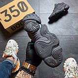 Мужские кроссовки Adidas Yeezy 500 Utility Black, Мужские кроссовки Адидас Изи Буст 500 черные рефлект., фото 6
